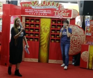 Tiger Beer Huat Roadshow on 19 Jan 2019